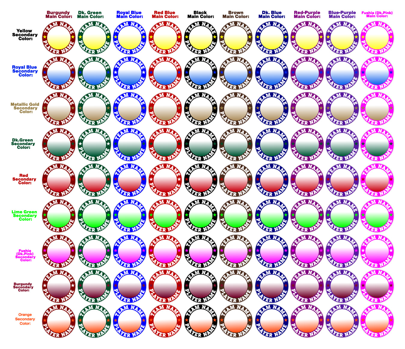 color examples (of many color combinations)