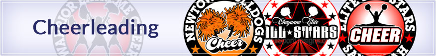 Some samples of our cheerleading car decals