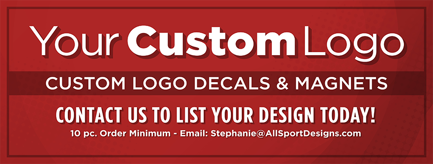 Visit All Sport Designs to design your own custom logo magnet!